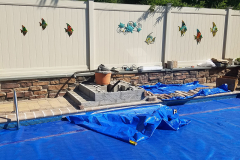 Before - Pool Fountain | Pool Add-Ons | Patio Design | Pond Design | Landscape Maintenance
