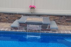 After - Pool Fountain | Pool Add-Ons | Swimming Pool Ideas | Pool Designs | Water Features