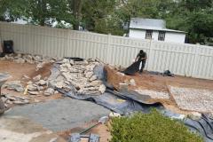 Before - Landscape Preparation | Water Feature | Stone Bridge | Backyard Landscape | Garden Landscape Ideas